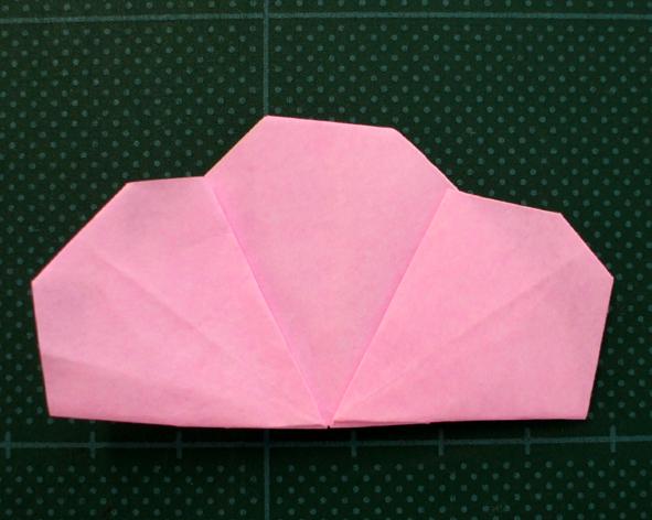 花 折り紙 桃の花 折り紙 : あべのん折り紙(桃の花のか ...