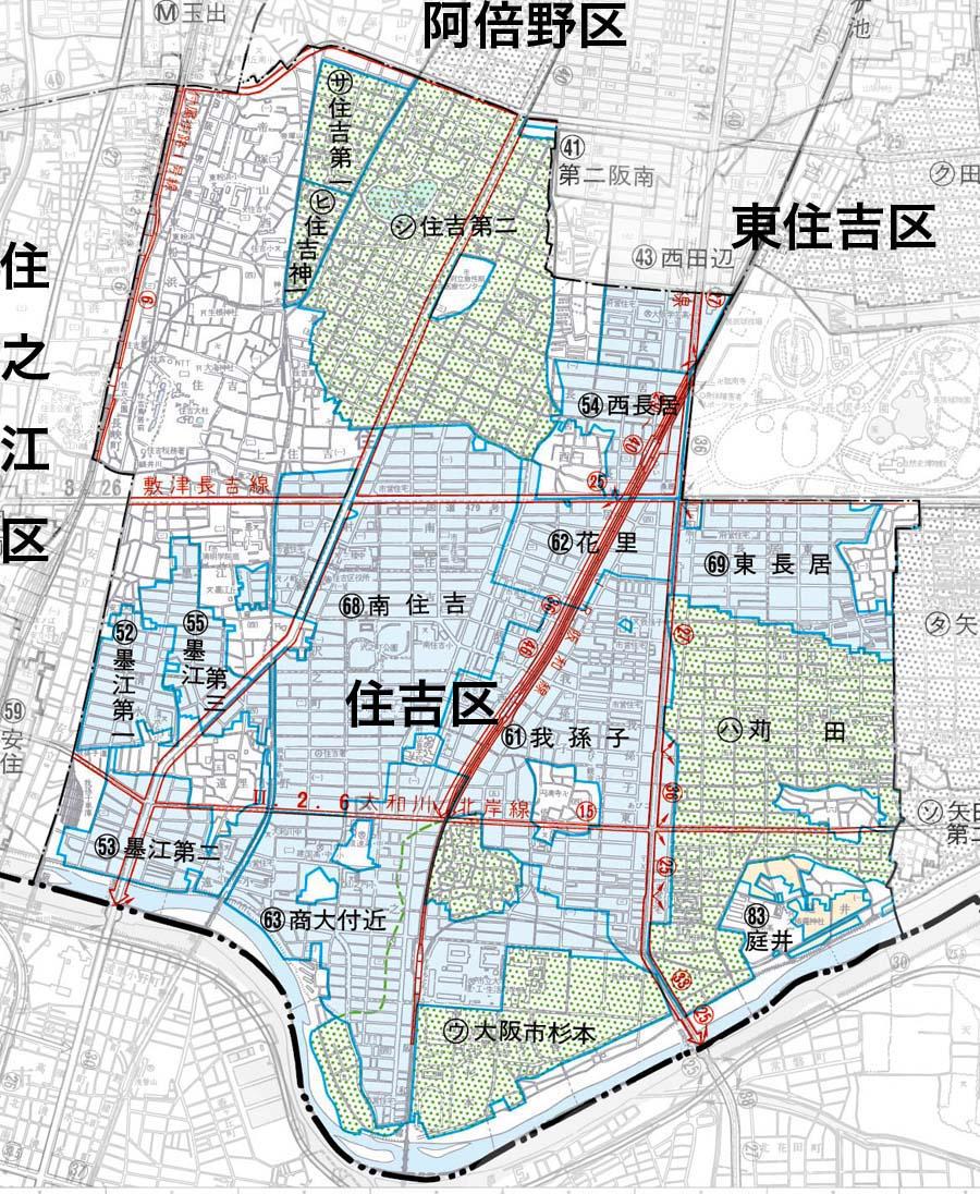 住吉区の地図