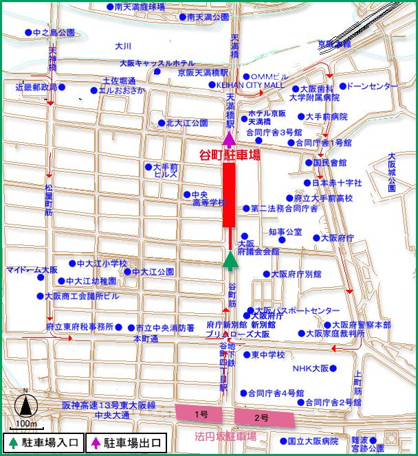 大阪市:13 谷町駐車場 (…>駐輪...