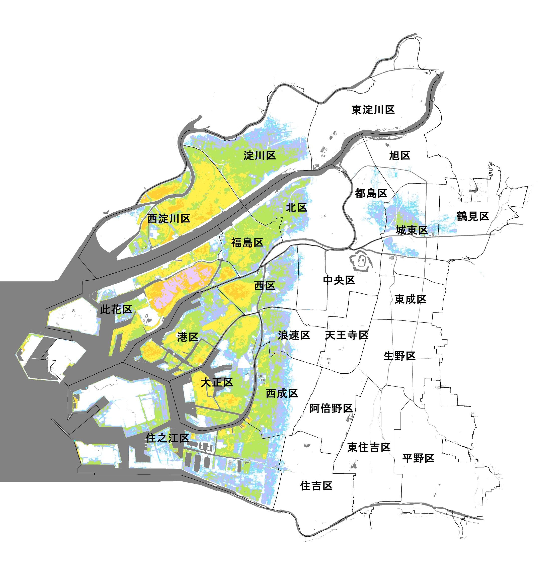大阪市の津波ハザードマップ