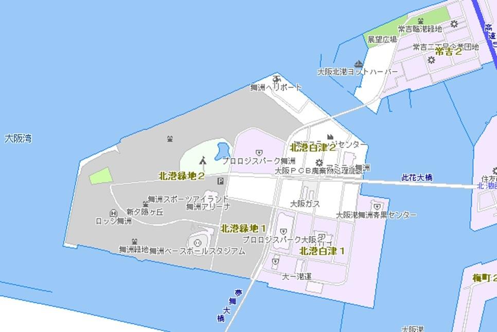 大阪市:舞洲地区 (…>都市計画>港湾)
